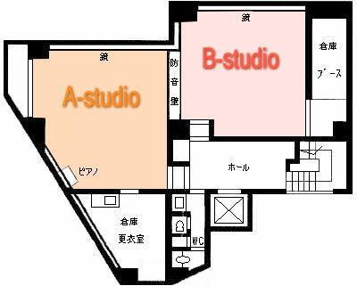 新宿 ダンススタジオ BMTスタジオ図面